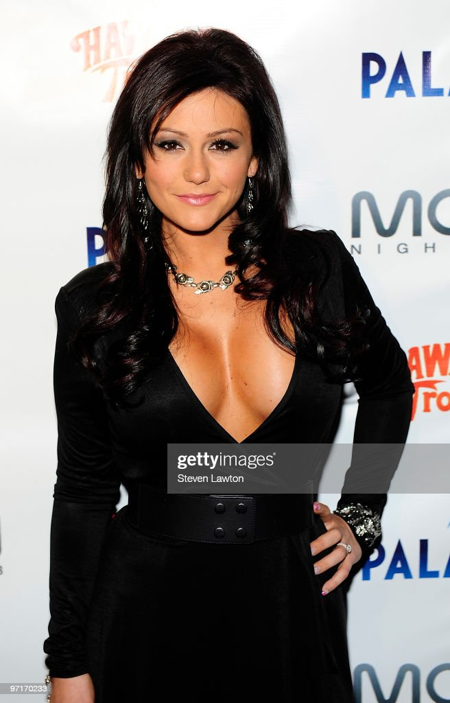 Television personality Jenni 'J-Woww' Farley castmate of 'Jersey Shore' arrives to celebrate her birthday at Moon Nightclub at The Palms Resort & Casino on February 27, 2010 in Las Vegas, Nevada.