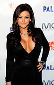 Television personality Jenni 'JWoww' Farley castmate of 'Jersey Shore' arrives to celebrate her birthday at Moon Nightclub at The Palms Resort Casino...