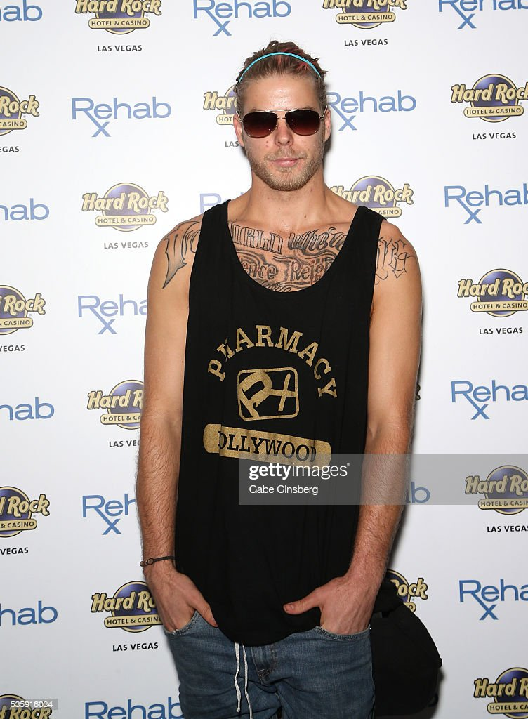 Television personality Jeremy Madix from 'Vanderpump Rules' arrives at the Hard Rock Hotel & Casino's Rehab pool party on May 30, 2016 in Las Vegas, Nevada.