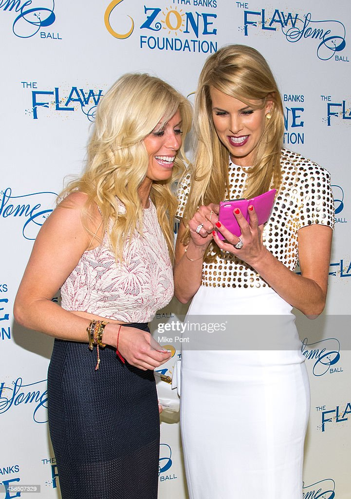 Television Personality Jill Martin and Beth Ostrosky Stern attend Tyra Banks' Flawsome Ball 2014 at Cipriani Wall Street on May 6 2014 in New York...