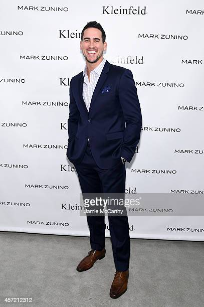 Television personality Josh Murray attends front row at The Mark Zunino For Kleinfeld 2015 Runway Show at Kleinfeld on October 14 2014 in New York...