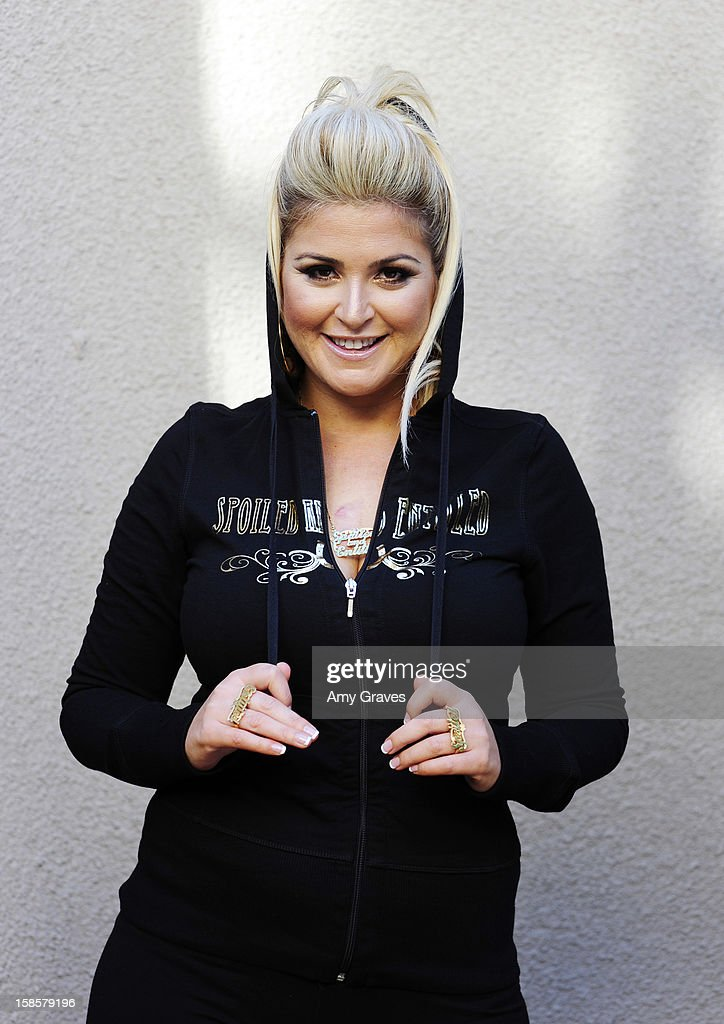 Television personality Josie Goldberg poses for a photo with her Spring 2013 'Spoiled and Entitled' clothing, jewelry and chocolate collection on December 19, 2012 in West Hollywood, California.