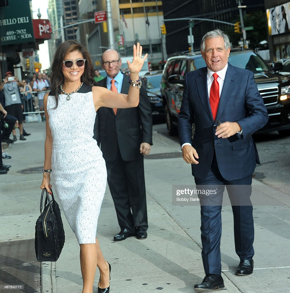 Television personality Julie Chen and President and CEO of CBS Corporation Les Moonves attends The First Taping Of 'The Late Show With Stephen...