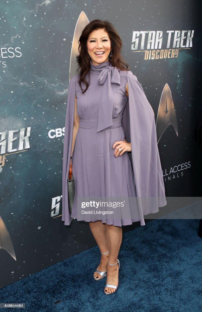 Television personality Julie Chen attends the premiere of CBS's 'Star Trek: Discovery' at The Cinerama Dome on September 19, 2017 in Los Angeles, California.