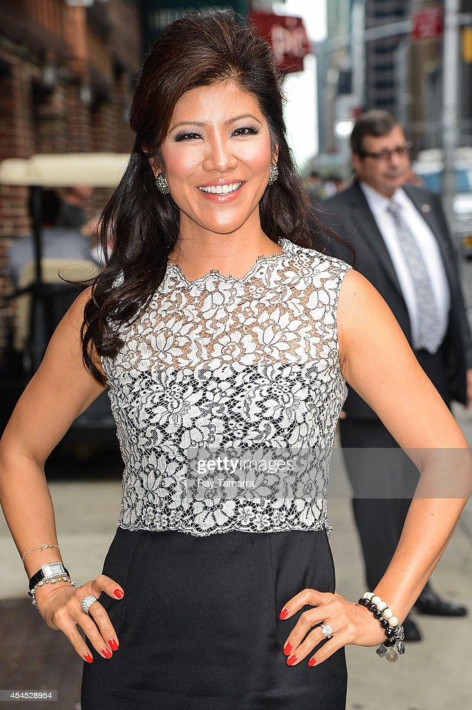 Television personality Julie Chen enters the 'Late Show With David Letterman' taping at the Ed Sullivan Theater on September 2 2014 in New York City