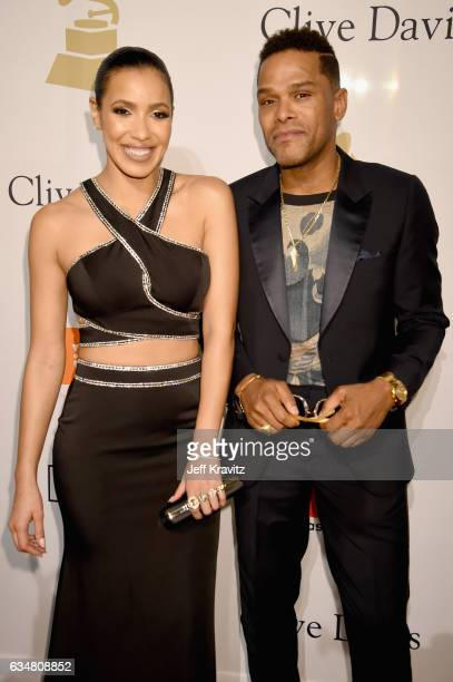Television personality Julissa Bermúdez and recording artist Maxwell attend PreGRAMMY Gala and Salute to Industry Icons Honoring Debra Lee at The...