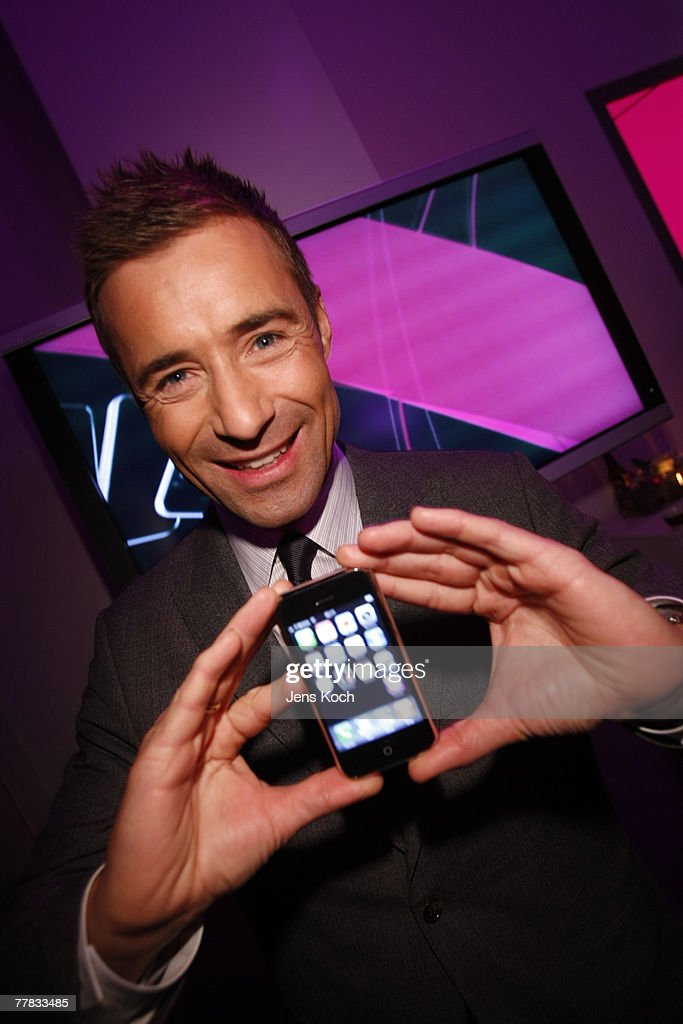 Television personality Kai Pflaume attends the iPhone Launch Party at the RheinTriadem November 9 2007 in Cologne Germany
