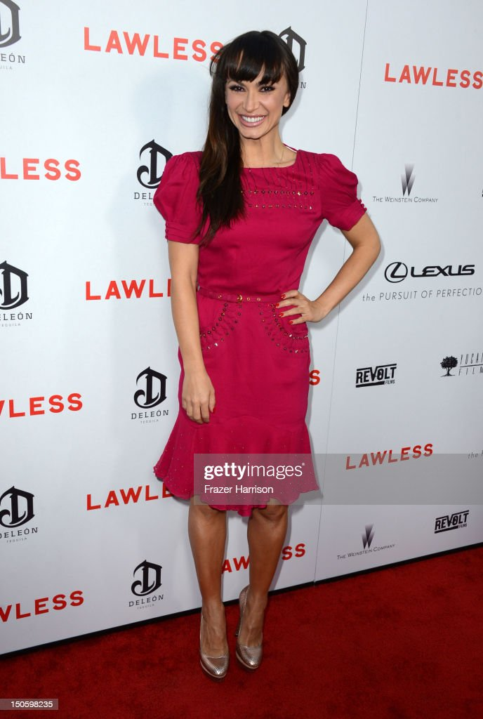 Television Personality Karina Smirnoff arrives at the Premiere of the Weinstein Company's 'Lawless' at ArcLight Cinemas on August 22, 2012 in Hollywood, California.