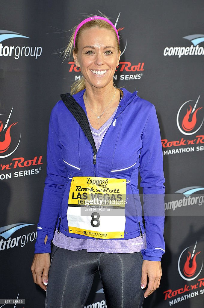 Television personality Kate Gosselin arrives at the Zappos.com Rock 'n' Roll Las Vegas Marathon and Half-Marathon on December 2, 2012 in Las Vegas, Nevada.