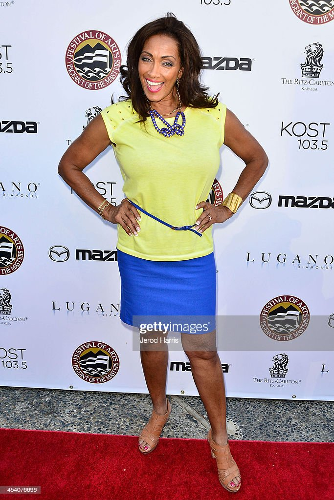 Television personality Kathleen Bradley attends the Festival of Arts Celebrity Benefit Concert and Pageant on August 23, 2014 in Laguna Beach, California.