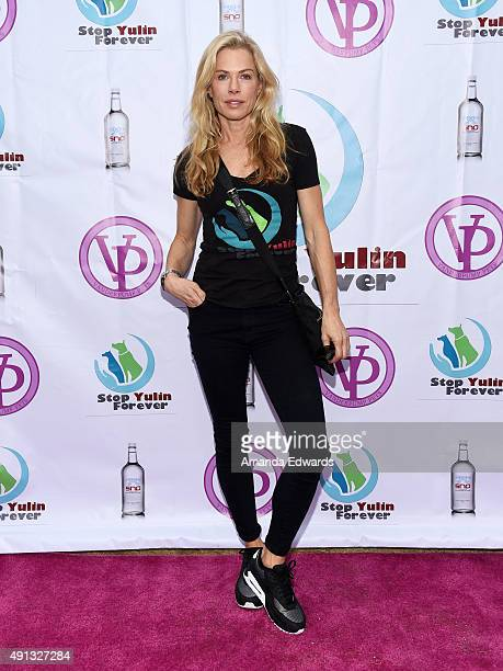 Television personality Kathryn Edwards attends the StopYulinForever March to End Dog Cruelty in Yulin China at MaCarthur Park Recreation Center on...