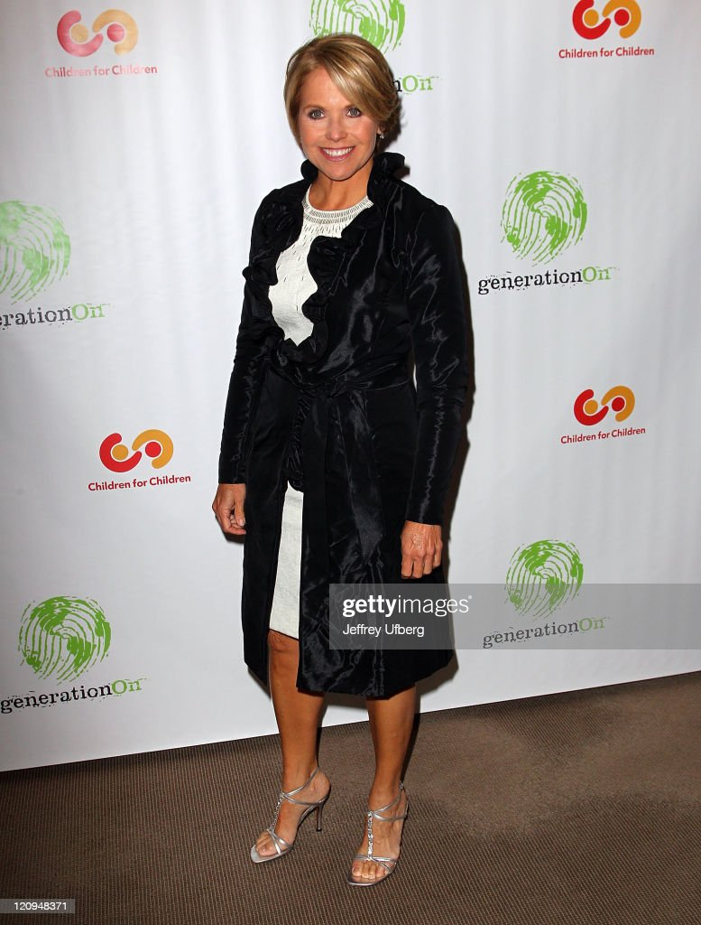 Television personality Katie Couric attends the 9th annual The Art Of Giving benefit by Children For Children at Christie's on April 13, 2010 in New York City.