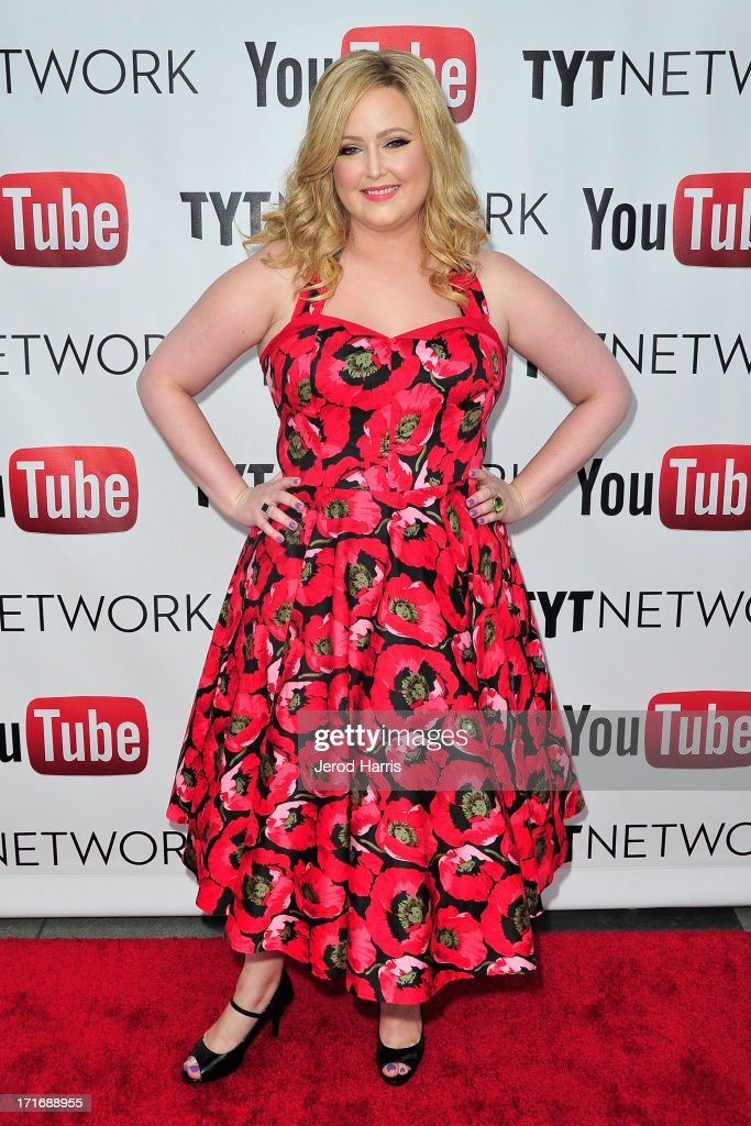 Television personality Katrina Parker arrives at YouTube and TYT Network Present the 1st Annual YouTube PRIDE Party Hosted By Dave Rubin at YouTube Space LA on June 27, 2013 in Los Angeles, California.
