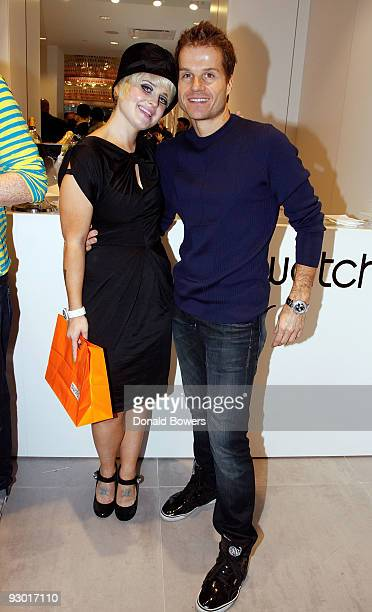 Television personality Kelly Osbourne and dancer Louis Van Amstel attend the Swatch Times Square flagship store grand reopening and 26 Years of Style...