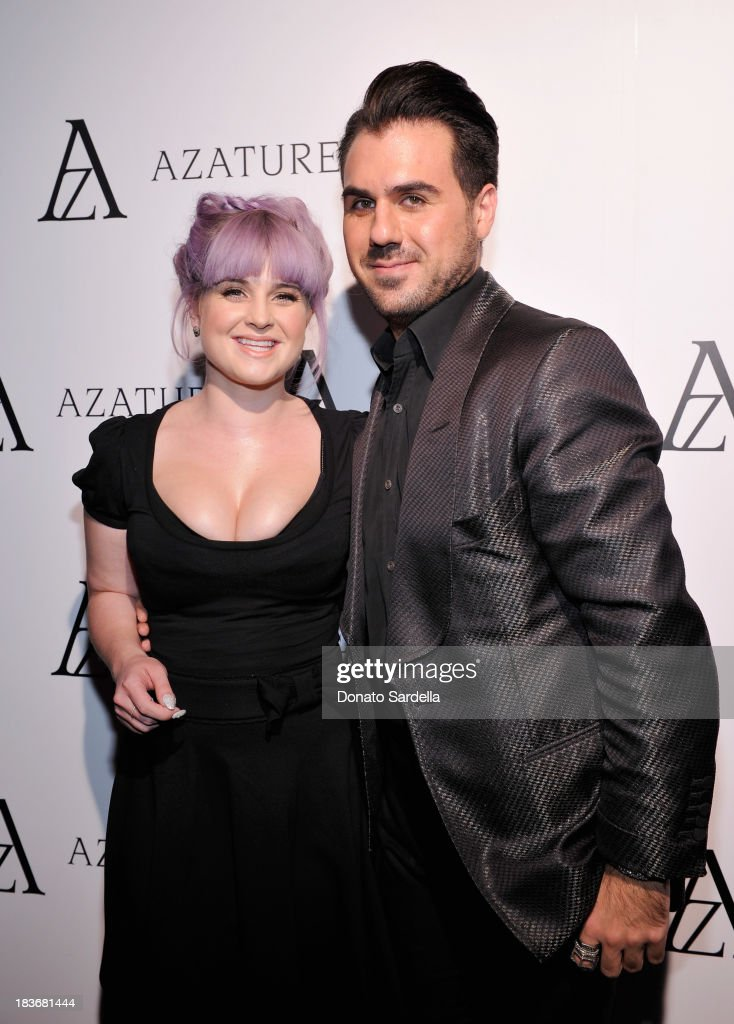Television personality <a gi-track='captionPersonalityLinkClicked' href=/galleries/search?phrase=Kelly+Osbourne&family=editorial&specificpeople=156416 ng-click='$event.stopPropagation()'>Kelly Osbourne</a> (L) and designer Azature Pogosian attend The Black Diamond Affair with A Z A T U R E at Sunset Tower on October 8, 2013 in West Hollywood, California.