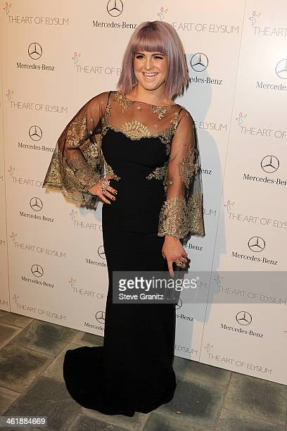 Television personality Kelly Osbourne arrives at The Art of Elysium's 7th Annual HEAVEN Gala presented by MercedesBenz at Skirball Cultural Center on...