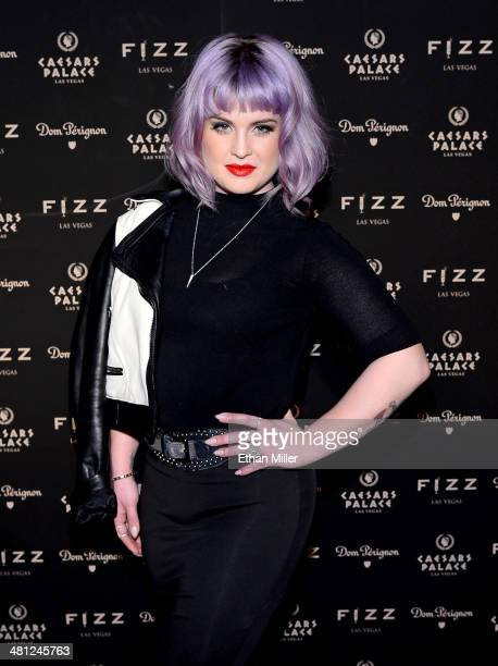Television personality Kelly Osbourne arrives at the grand opening of Fizz Las Vegas inside Caesars Palace celebrating Sir Elton John's birthday on...