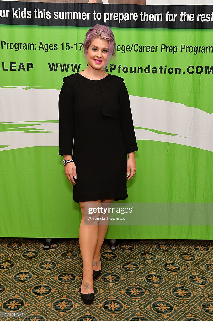 Television personality <a gi-track='captionPersonalityLinkClicked' href=/galleries/search?phrase=Kelly+Osbourne&family=editorial&specificpeople=156416 ng-click='$event.stopPropagation()'>Kelly Osbourne</a> serves as a guest speaker at the LEAP Foundation Scholarship Program at UCLA on July 28, 2013 in Los Angeles, California.