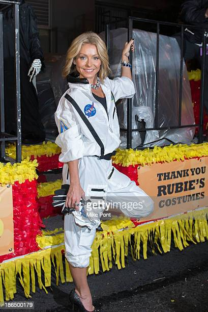 Television personality Kelly Ripa participates in the New York City 40th Annual Village Halloween parade on October 31 2013 in New York City