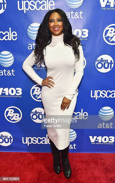 Television personality Kenya Moore attends Bronner Bros 2015 MidWinter International Beauty Show at Georgia World Congress Center on February 22 2015...