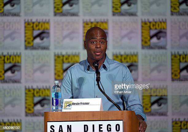 Television personality Kevin Frazier moderates CBS TV Studios' panel for 'Under the Dome' during ComicCon International 2015 at the San Diego...