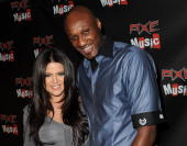 Television personality Khloe Kardashian and Los Angeles Laker Lamar Odom attend the 'AXE Music One Night Only' concert series featuring Weezer at...