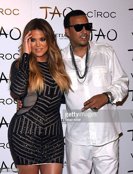 Television personality Khloe Kardashian and rapper French Montana arrive at the Tao Nightclub at The Venetian Las Vegas to celebrate her birthday on...