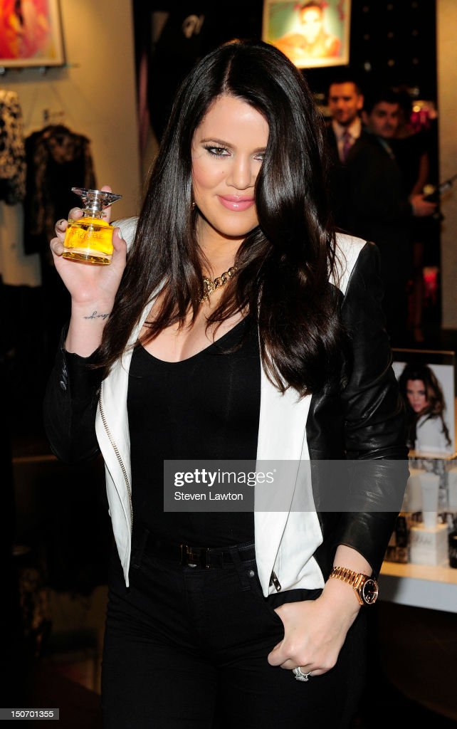 Television personality Khloe Kardashian Odom arrives at Kardashian Khaos inside The Mirage Hotel & Casino on August 24, 2012 in Las Vegas, Nevada.