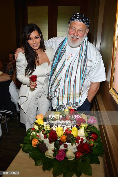 Television Personality Kim Kardashian and photographer Bruce Weber attends DuJour magazine's Spring issue collaboration with Kim Kardashian and Bruce...