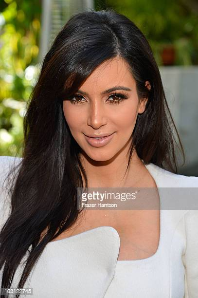Television Personality Kim Kardashian attends DuJour magazine's Spring issue collaboration with Kim Kardashian and Bruce Weber at the Four Seasons...