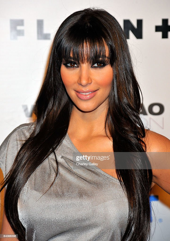 Television personality Kim Kardashian attends Flaunt Magazine's 10th Anniversary Party at a private residence on December 18 2008 in Los Angeles...