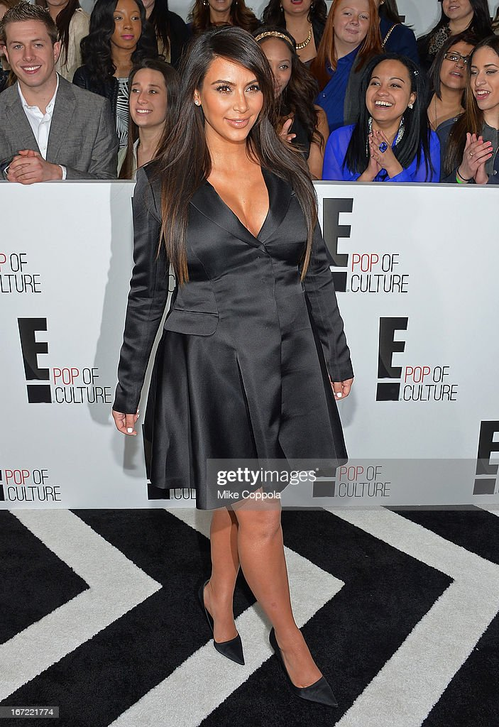 Television personality Kim Kardashian attends the E! 2013 Upfront at The Grand Ballroom at Manhattan Center on April 22, 2013 in New York City.
