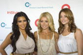 Television personality Kim Kardashian Kelly Ripa and actress Ashley Greene attend the 13th Annual Super Saturday event at Nova's Ark Project on July...