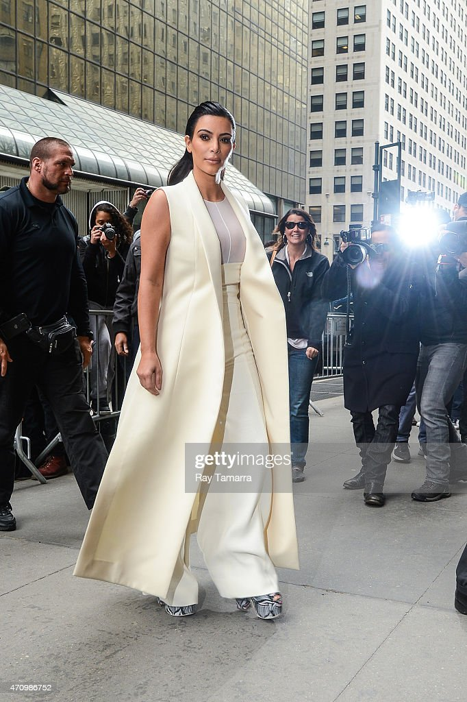 Television personality Kim Kardashian West enters Cipriani 42nd Street on April 24 2015 in New York City