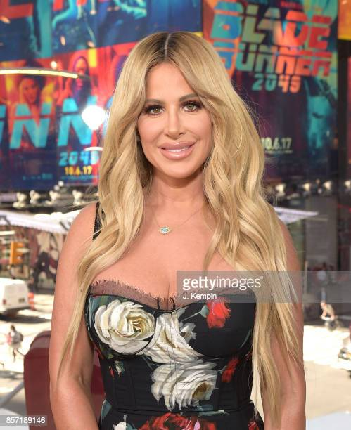 Television personality Kim Zolciak visits 'Extra' at HM Times Square on October 3 2017 in New York City