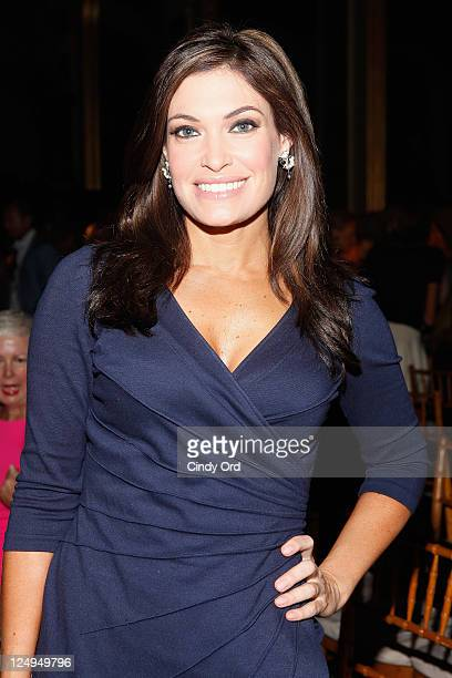 Television personality Kimberly Guilfoyle attends the Douglas Hannant Spring 2012 fashion show during MercedesBenz Fashion Week at The Plaza Hotel on...
