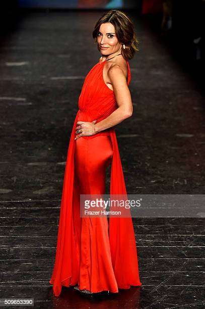 Television Personality Kit Hoover walks the runway at The American Heart Association's Go Red For Women Red Dress Collection 2016 Presented By Macy's...