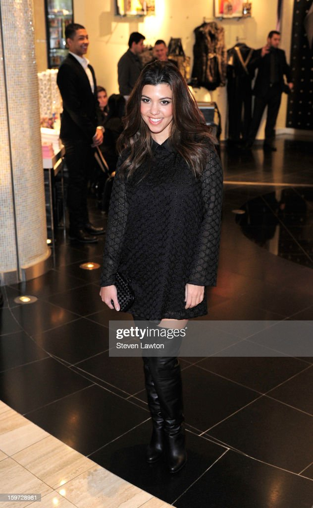Television personality Kourtney Kardashian appears at the Kardashian Khaos store at The Mirage Hotel & Casino on January 19, 2013 in Las Vegas, Nevada.