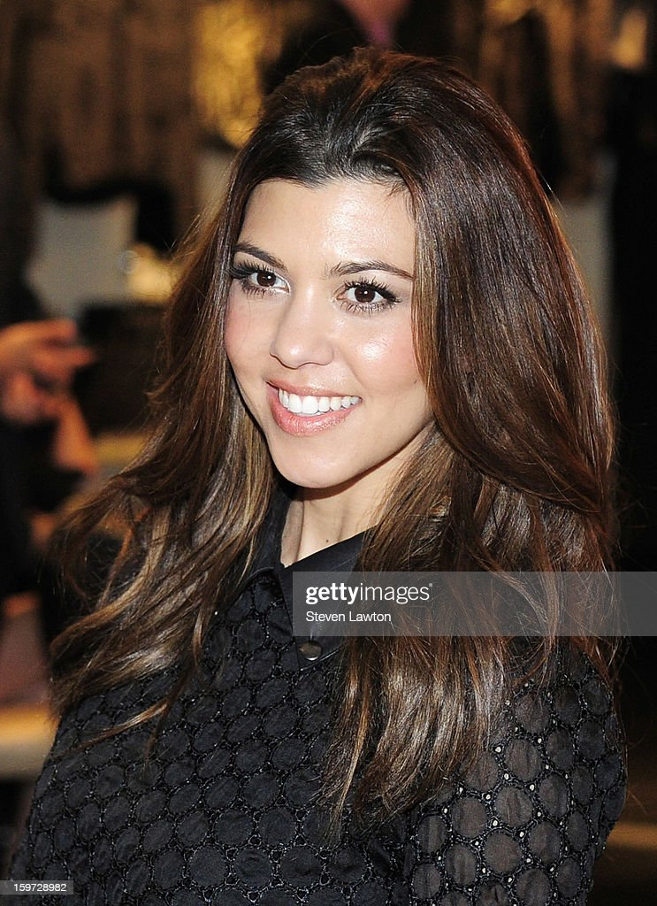 Television personality <a gi-track='captionPersonalityLinkClicked' href=/galleries/search?phrase=Kourtney+Kardashian&family=editorial&specificpeople=3955024 ng-click='$event.stopPropagation()'>Kourtney Kardashian</a> appears at the Kardashian Khaos store at The Mirage Hotel & Casino on January 19, 2013 in Las Vegas, Nevada.