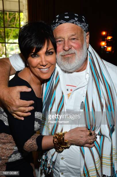 Television personality Kris Jenner and photographer Bruce Weber attend DuJour magazine's Spring issue collaboration with Kim Kardashian and Bruce...