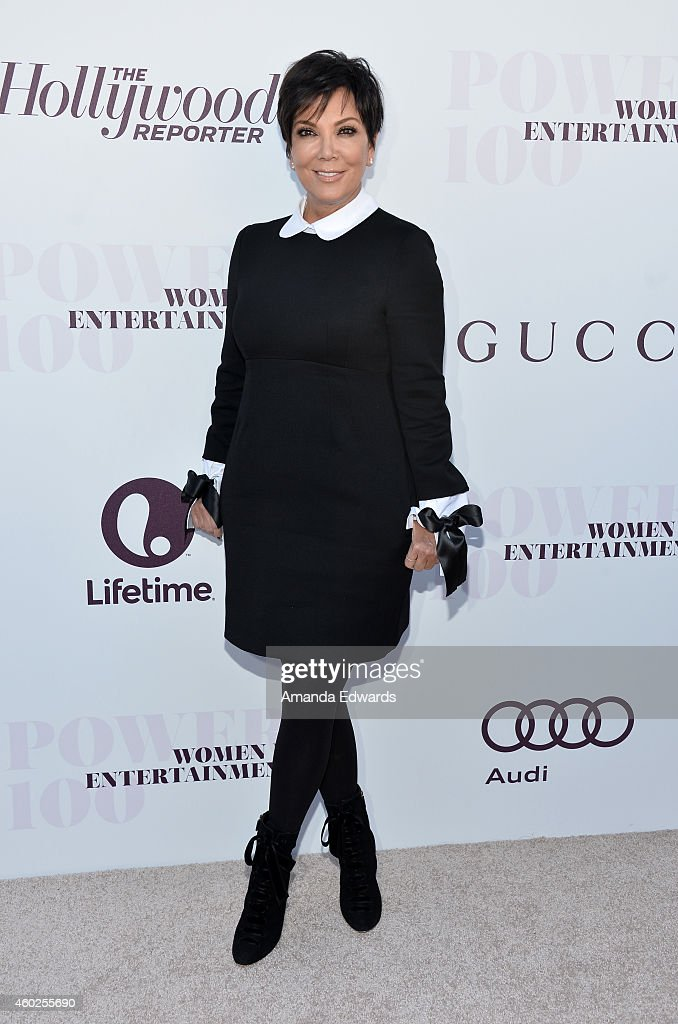 Television personality Kris Jenner arrives at The Hollywood Reporter's Women In Entertainment Breakfast at Milk Studios on December 10 2014 in Los...