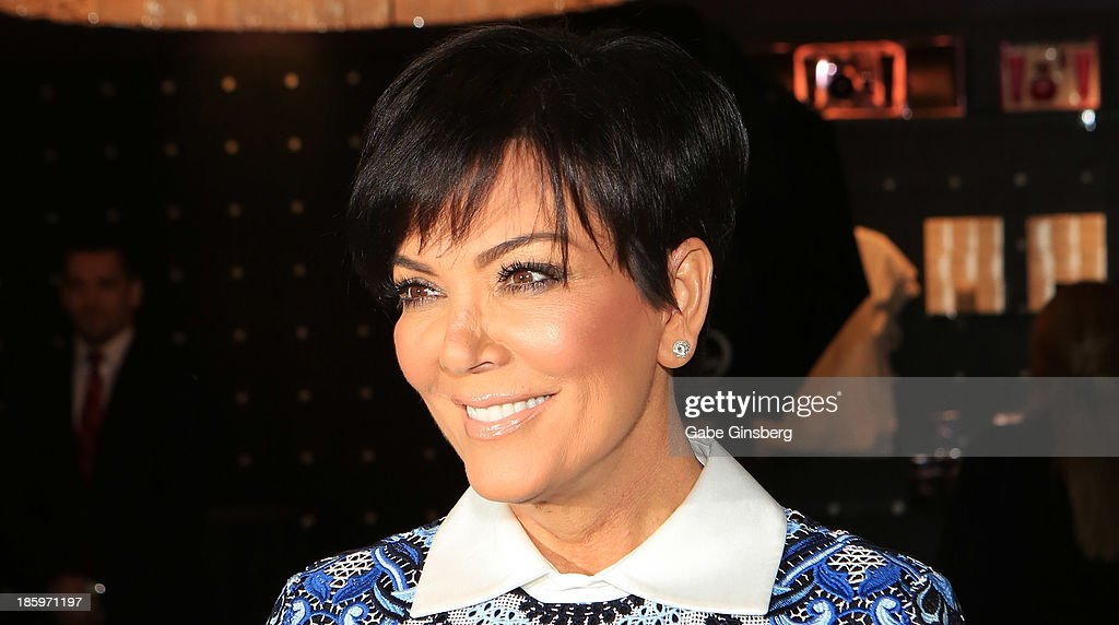 Television personality <a gi-track='captionPersonalityLinkClicked' href=/galleries/search?phrase=Kris+Jenner&family=editorial&specificpeople=762610 ng-click='$event.stopPropagation()'>Kris Jenner</a> arrives at the Kardashian Khaos store at The Mirage Hotel & Casino at on October 26, 2013 in Las Vegas, Nevada.