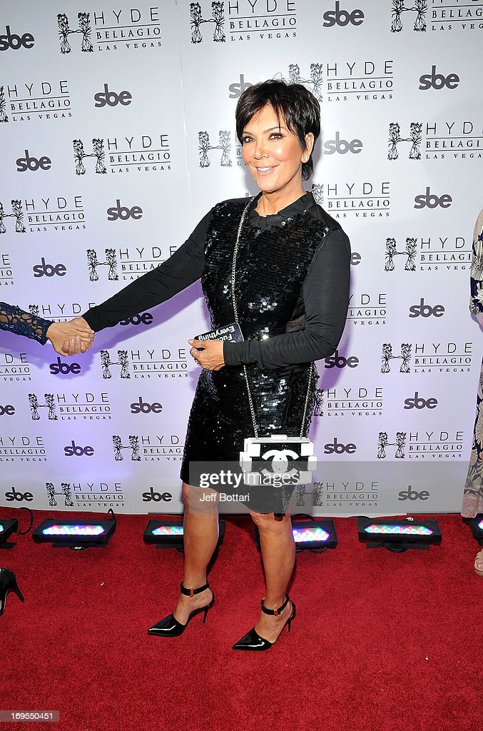 Television personality <a gi-track='captionPersonalityLinkClicked' href=/galleries/search?phrase=Kris+Jenner&family=editorial&specificpeople=762610 ng-click='$event.stopPropagation()'>Kris Jenner</a> arrives to celebrate Scott Disick's 30th birthday at Hyde Bellagio at the Bellagio over Memorial Day weekend on May 26, 2013 in Las Vegas, Nevada.