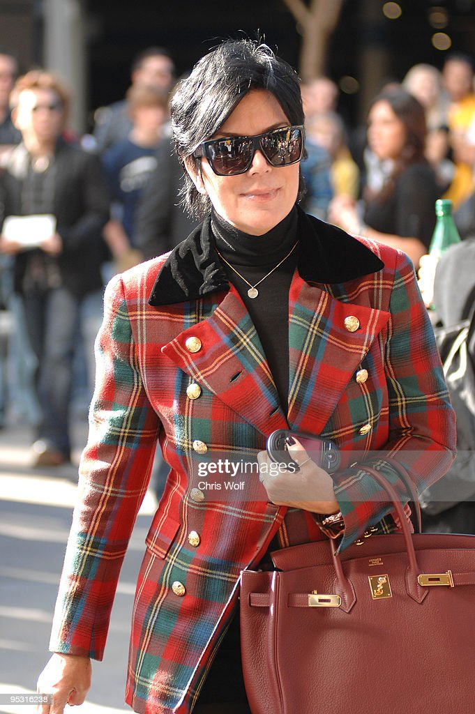 Television personality Kris Jenner is seen at Staples Center on December 25, 2009 in Los Angeles, California.