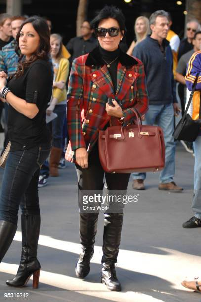 Television personality Kris Jenner is seen at Staples Center on December 25 2009 in Los Angeles California