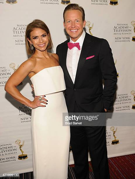 Television Personality Kristine Johnson and Chris Wragge attend the The 58th Annual New York Emmy Awards at Marriott Marquis Times Square on May 2...
