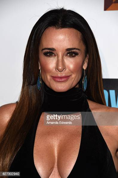 Television personality Kyle Richards arrives at the premiere party for Bravo Networks' 'Real Housewives Of Beverly Hills' Season 7 at Sofitel Los...