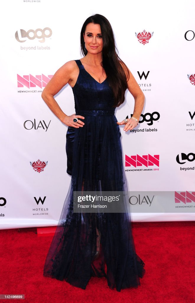 Television Personality <a gi-track='captionPersonalityLinkClicked' href=/galleries/search?phrase=Kyle+Richards&family=editorial&specificpeople=2586434 ng-click='$event.stopPropagation()'>Kyle Richards</a> attends Logo's 'NewNowNext Awards' 2012 at Avalon on April 5, 2012 in Hollywood, California.