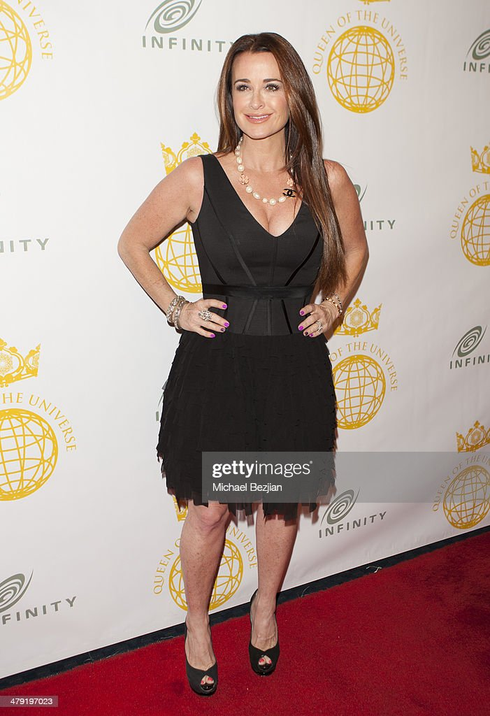 Television personality <a gi-track='captionPersonalityLinkClicked' href=/galleries/search?phrase=Kyle+Richards&family=editorial&specificpeople=2586434 ng-click='$event.stopPropagation()'>Kyle Richards</a> attends Queen Of The Universe International Beauty Pageant at Saban Theatre on March 16, 2014 in Beverly Hills, California.
