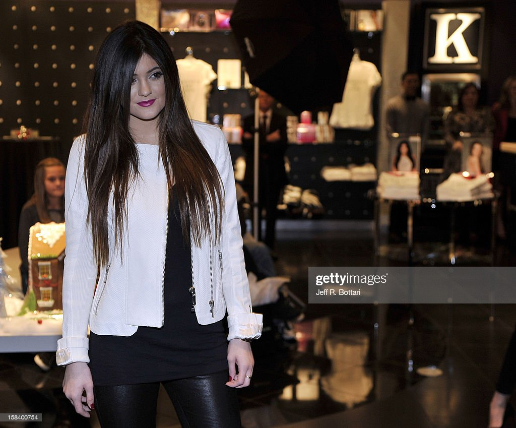 Television personality Kylie Jenner appears at the Kardashian Khaos store at The Mirage Hotel & Casino for a fan meet-n-greet on December 15, 2012 in Las Vegas, Nevada.